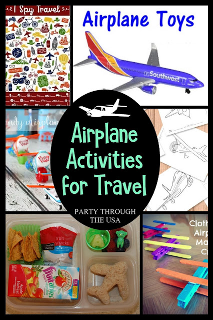 Airplane themed activities for preschool and early elementary kids to do either on the plane or at home before you leave