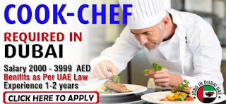 Tandoori & Indian Cook Required Urgently  In Dubai With Attractive Salary Plus Other Benefits