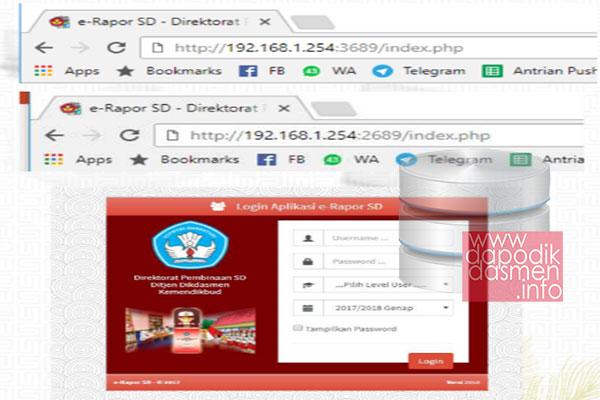 Cara Login dan Akses Aplikasi e-Rapor SD Versi Terbaru 1.0