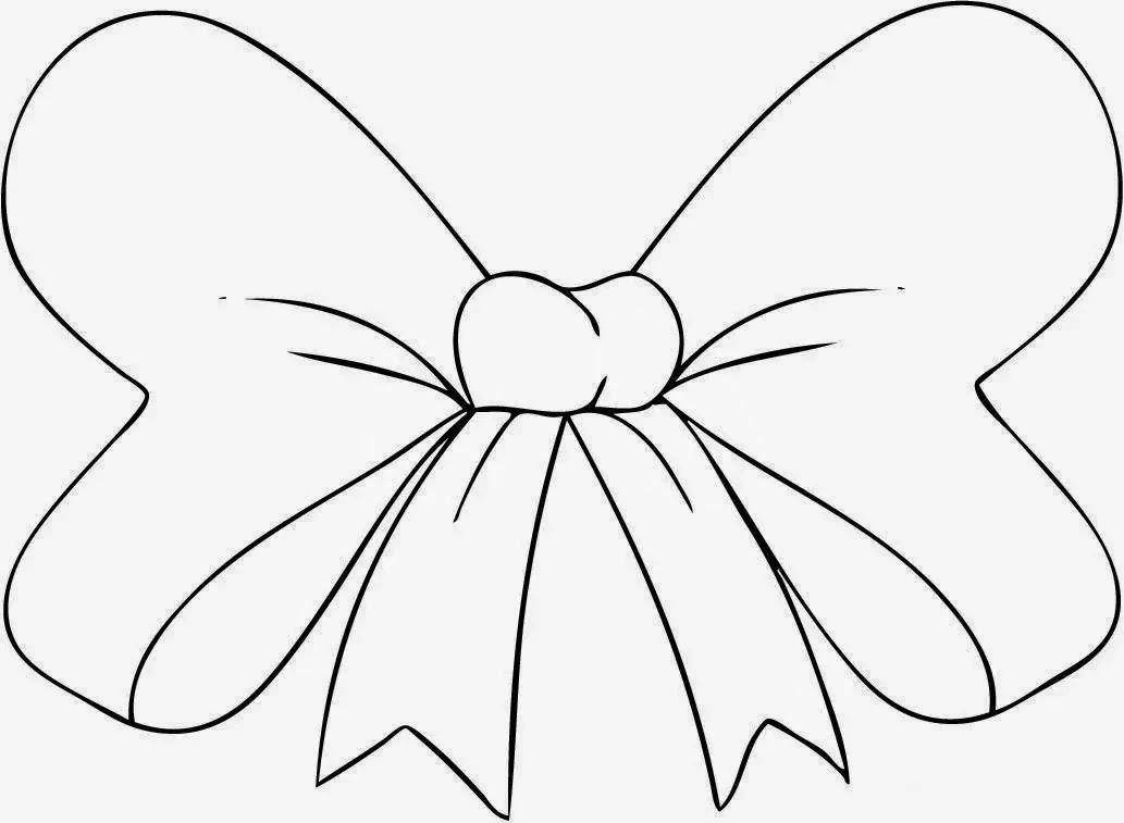 Laço De Fita Desenhos Preto E Branco Para Colorir