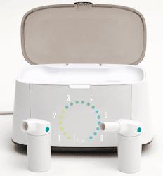 Prototipo en fase beta de LEVL con los dos receptáculos y el cajón de análisis