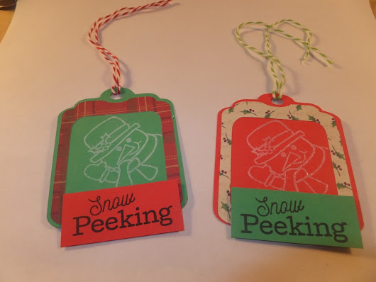 Christmas Gift Tags with Cricut and Stamps