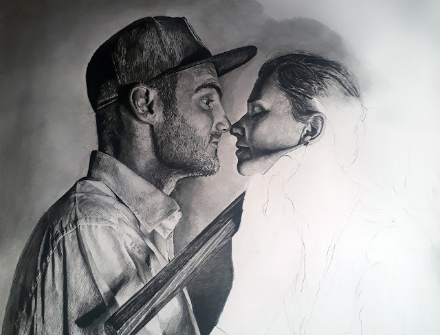Portrait of Artist Ben Heine and Marta Heine by Olamide Ogunade (OliscoArt)
