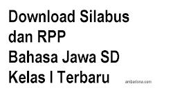 Download Silabus dan Rencana Pelaksanaan Pembelajaran Bahasa Jawa SD Kelas I Terbaru