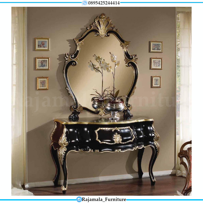 Harga Console Table Luxury, Set Meja Konsul Mewah Jepara RM-0284