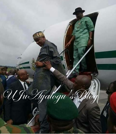 Drama as Osinbajo Forces Wike, Amaechi's Unity In Presidential Jet At Rivers ...See Photos