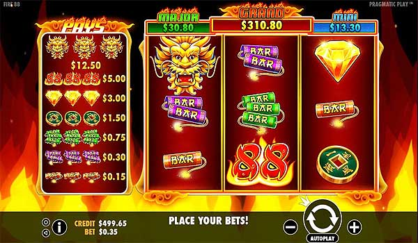 Main Gratis Slot Indonesia - Fire 88 (Pragmatic Play)