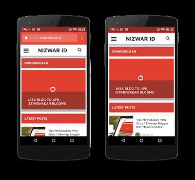 Tampilan Display Browser dan Standalone - Nizwar ID