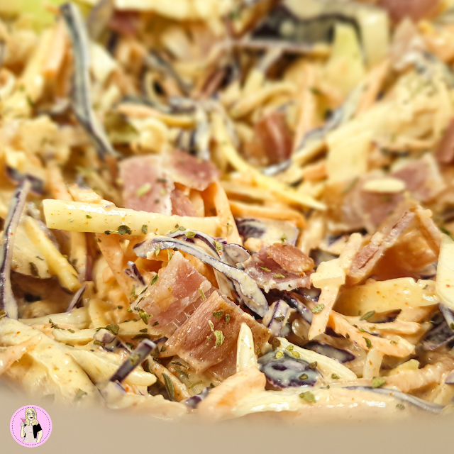 Creamy Cheese & Bacon Slimming World Coleslaw Recipe