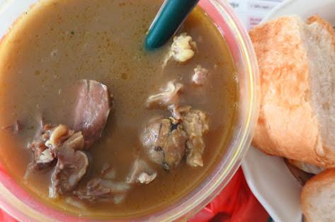 Al Dawood Kambing Soup, brain and tongue