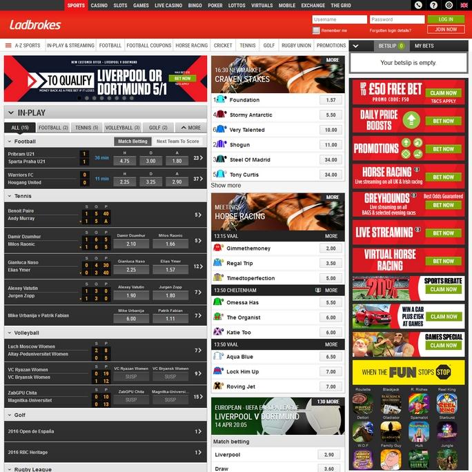 Ladbrokes Screen