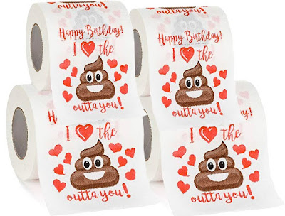 Gift Ideas: Funny Toilet Paper Rolls for Lovers - 2Ply Sheets Cleaning Tissues with Happy Birthday Prints