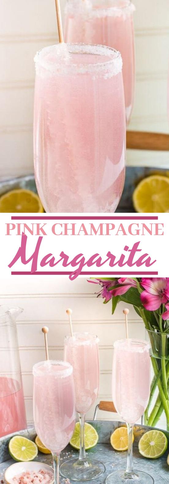 Pink Champagne Margarita #drinks #cocktails #party #beverages #brunch