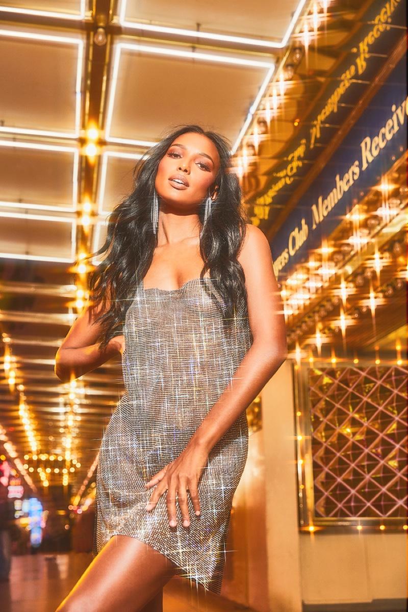 Jasmine Tookes stars in Boohoo holiday 2019 campaign