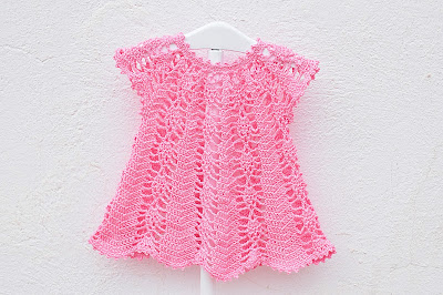 Vestido rosa a crochet y ganchillo Majovel Crochet