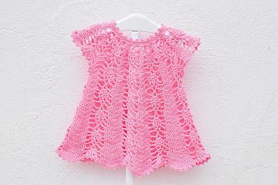 Vestido rosa a crochet y ganchillo Majovel Crochet