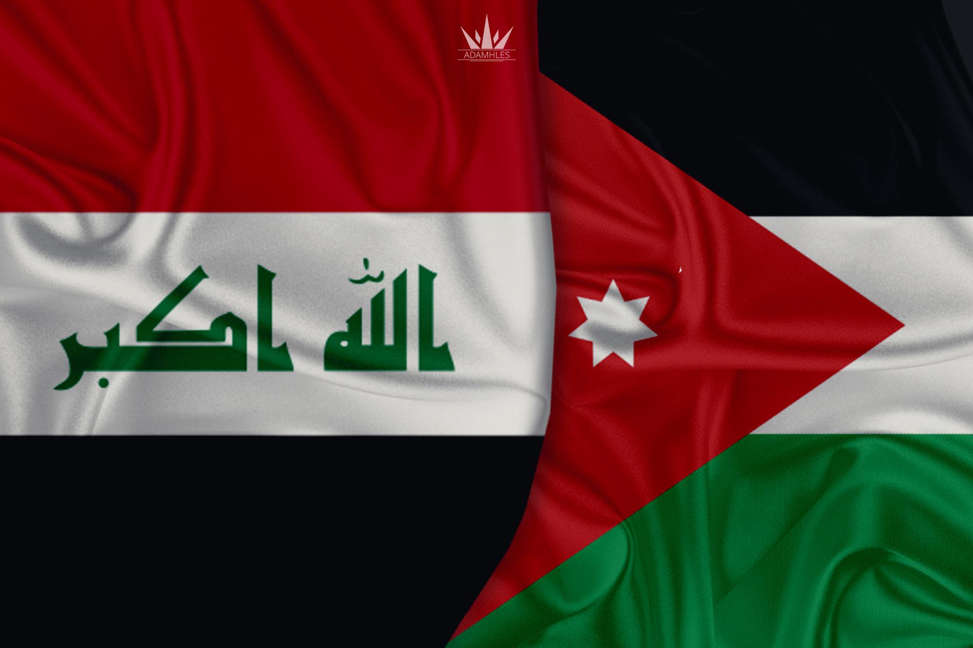 خلفية علم العراق والاردن اجمل خلفيات العلم العراقي والعلم الاردني Iraq and Jordan