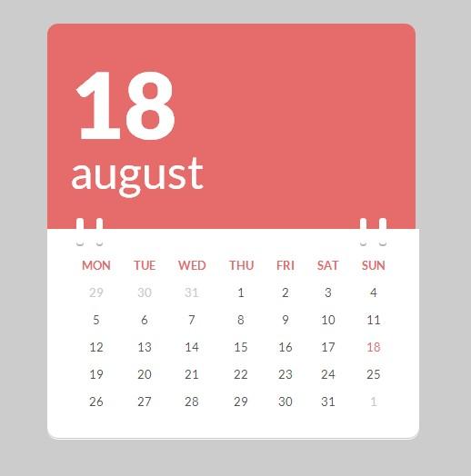 Free Calendar Templates Html & CSS - دروس4يو Dros4U