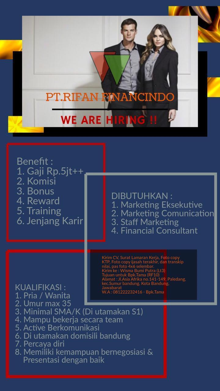 Lowongan Kerja PT. Rifan Fianancindo Bandung Juni 2020