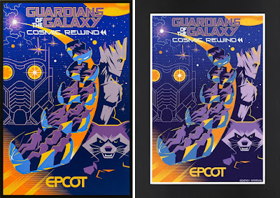EPCOT Guardians of the Galaxy Cosmic Rewind Print by Eric Tan x shopDisney