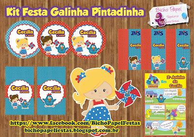 Kit Festa Galinha Pintadinha Para Meninas (Loira ou Morena)