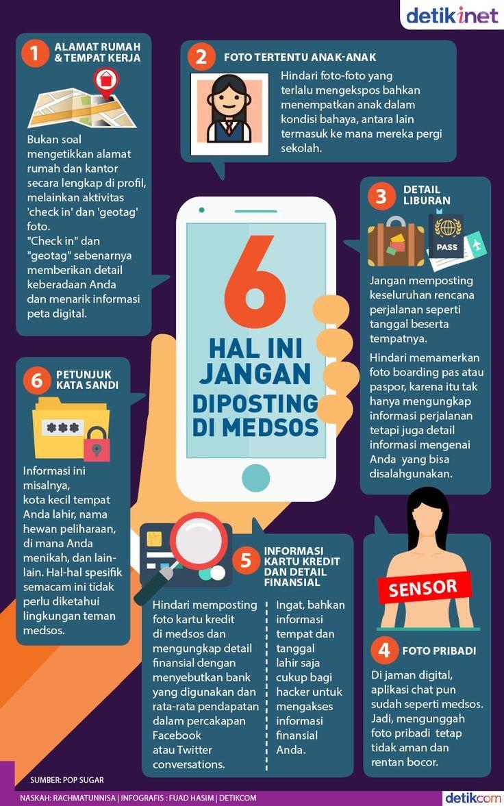Jangan Posting 6 Hal Ini di Medsos