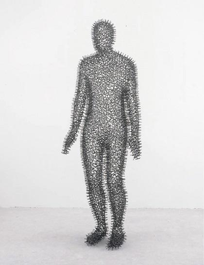 "Antony Gormley - ""Under my Skin VII"", 2002. | imagenes obras de arte figurativo abstracto, esculturas figurativas abstractas | art pictures inspiration, cool stuff"