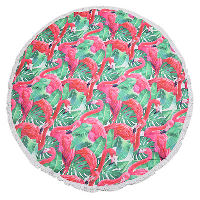 Roundie Flamingo Jungle - rond strandlaken