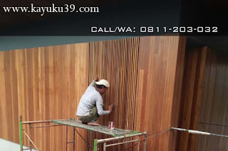 penutup dinding kayu