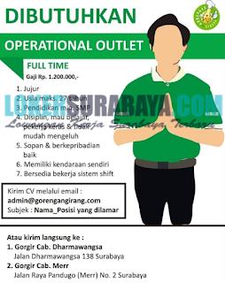 Dibutuhkan Segera Tenaga Kerja di Gorengan Girang Surabaya Juni 2019 Terbaru