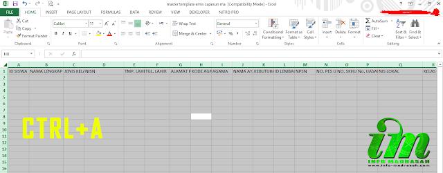 Cara Mengatasi File EZ/CSV Templapte CAPESUN Yang Error (E-Manja)
