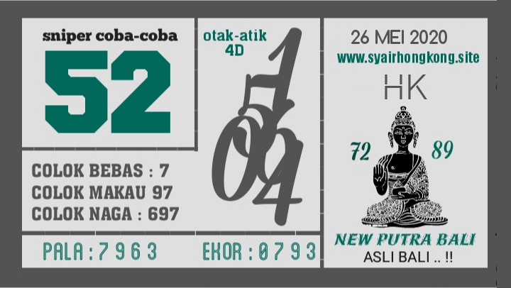 Prediksi Syair HK 26 Mei 2020