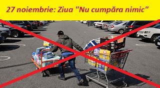 """27 noiembrie: Ziua """"Nu cumpăra nimic"""""""