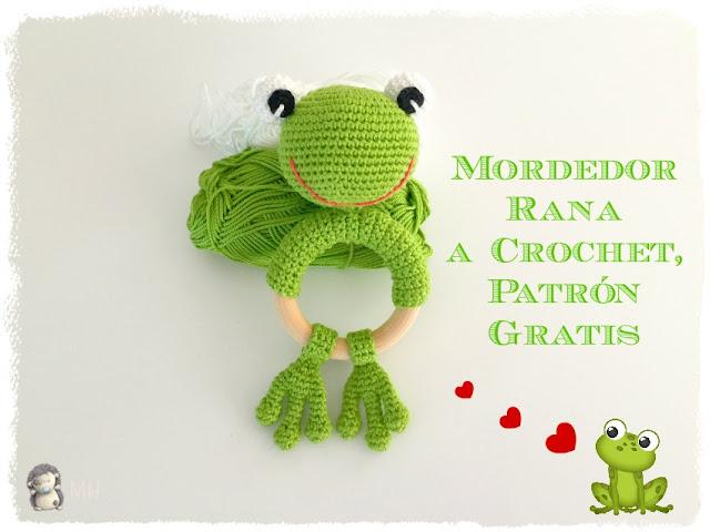 Mordedor rana a crochet