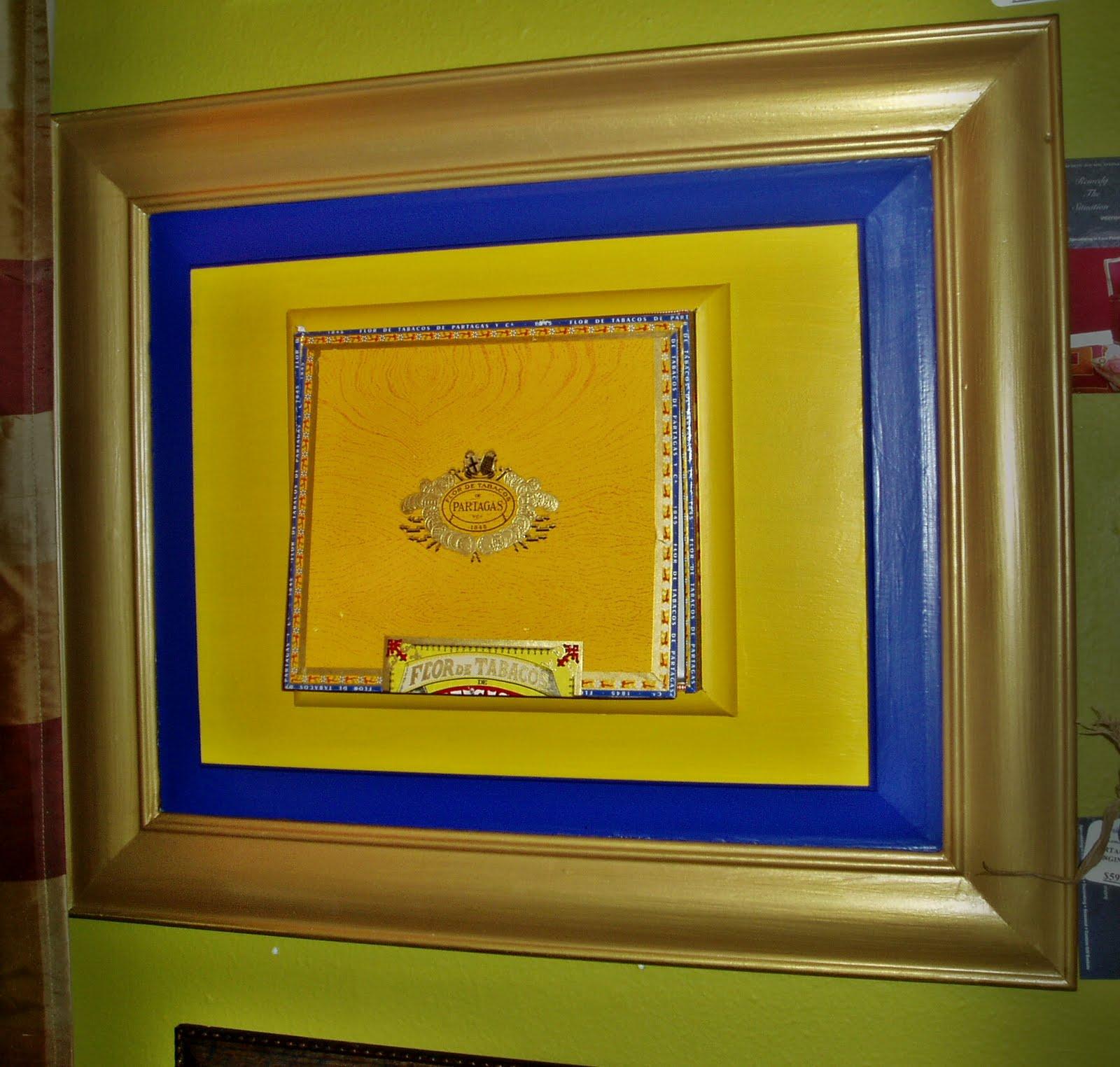 Cigar Box Wall Art: Faux Painting + Furniture: Wall Art- Cigar Box ART