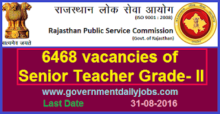 Recruitment of Senior Teacher Grade 2 through RPSC