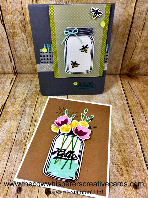 Card, Jar of Love, Spring, Firefly, Rustic