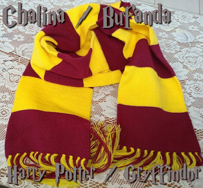 (Bs. 50) Chalinas de Harry Potter: Gryffindor, Slytherin, Ravenclaw y Hufflepuff