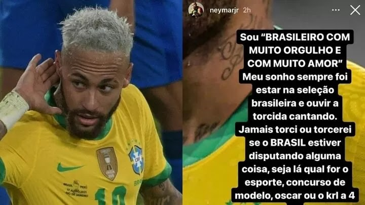 Neymar takes aim at Brazilians supporting Argentina in Copa America final