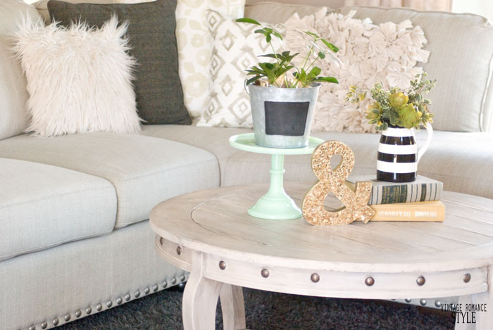5 Ways to Style a Round Coffee Table VINTAGE ROMANCE STYLE