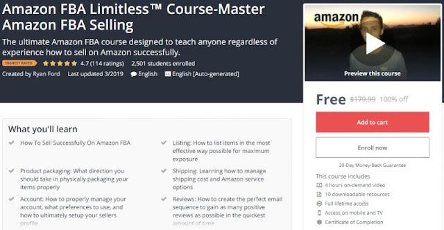 [100% Off] Amazon FBA Limitless™ Course-Master Amazon FBA Selling| Worth 179,99$