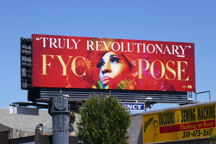 Pose season 1 Truly Revolutionary Emmy FYC billboard