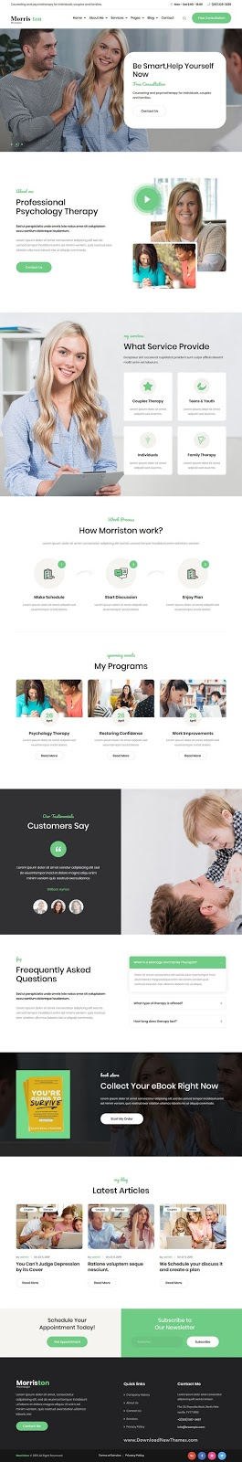 Best Psychologist & Counseling Website Theme