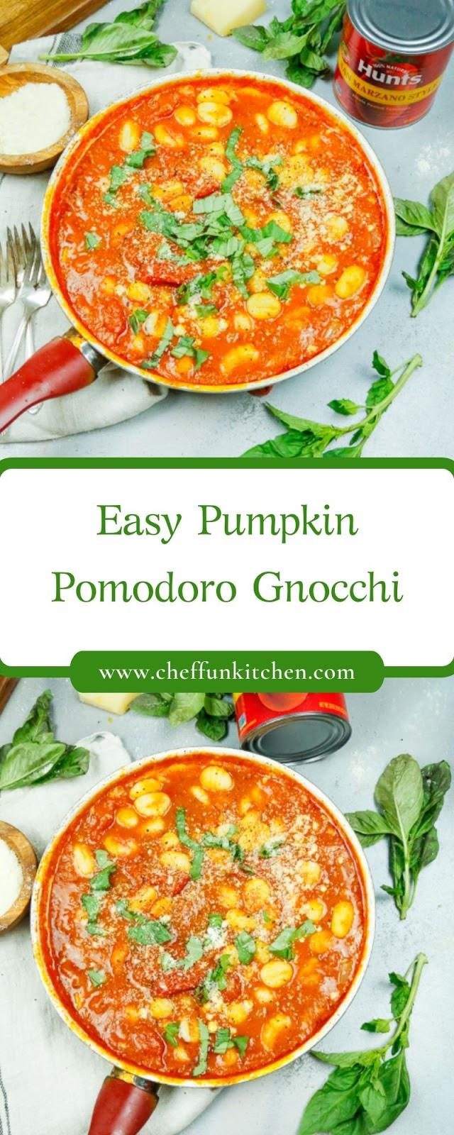 Easy Pumpkin Pomodoro Gnocchi
