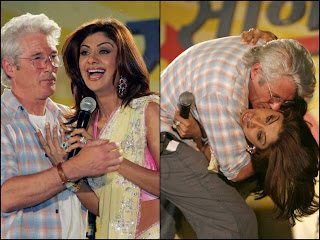 Shilpa Shetty  and Richard Gere Spotted Kissing in public