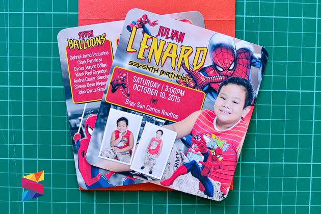 Labels 7th Birthday Invitation Mini Pocket Spider Man Theme Spiderman