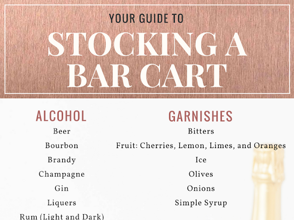 Splurge or Save? How To Stock a Bar Cart