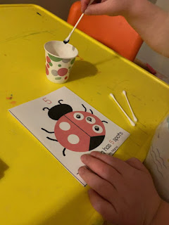 ladybug painting from Teaching with Faith