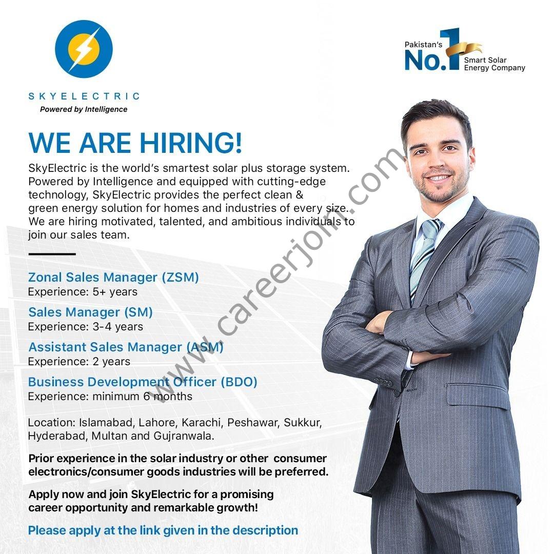 SkyElectric Pvt Ltd Jobs September 2021