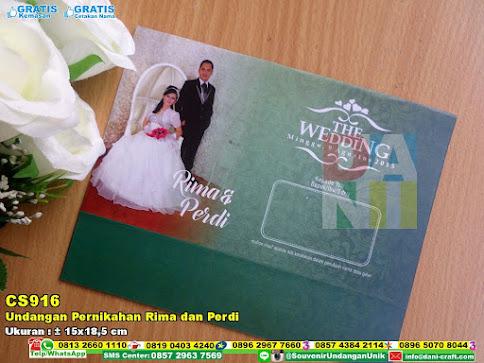 Undangan Pernikahan Rima Dan Perdi